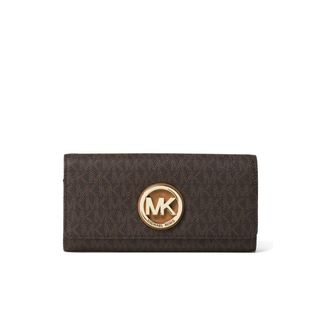 Michael Kors Signature Fulton Brown Carryall Wallet