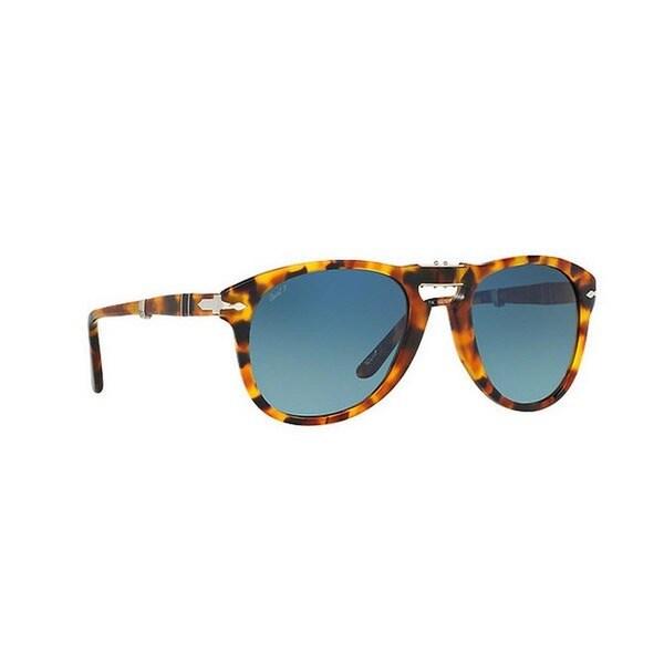 8850085103 Persol Men  x27 s PO0714 1052S3 54 Aviator Plastic Havana Blue Sunglasses