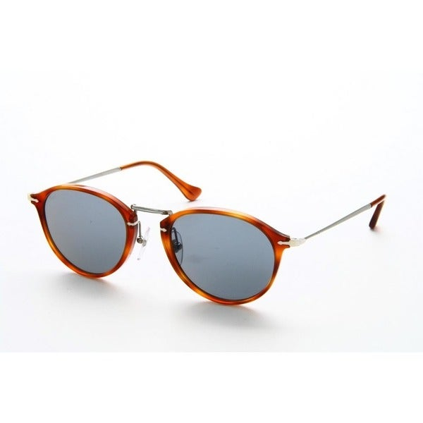 e44b83d1c10cb ... Men s Sunglasses     Fashion Sunglasses. Persol Men  x27 s PO3046S  96 56 51 Round Metal Plastic Havana Orange