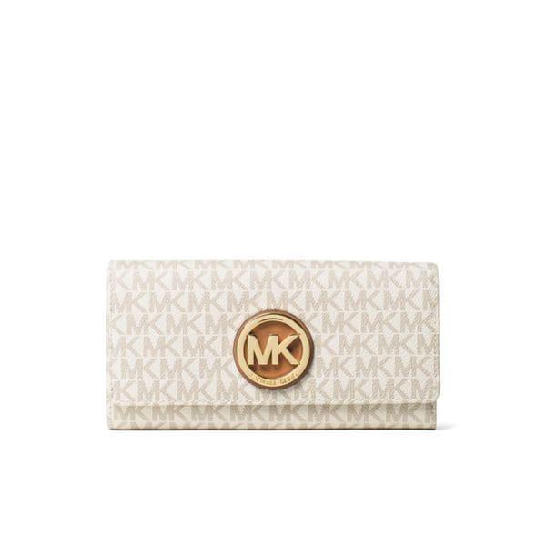 3ffe1f8f5515d0 Shop Michael Kors Signature Fulton Vanilla Carryall Wallet - Free ...