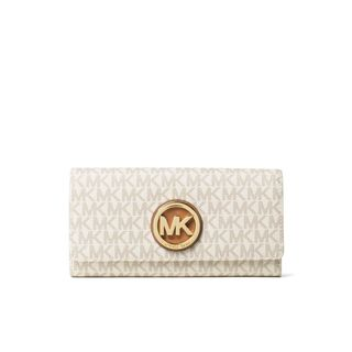 Michael Kors Signature Fulton Vanilla Carryall Wallet