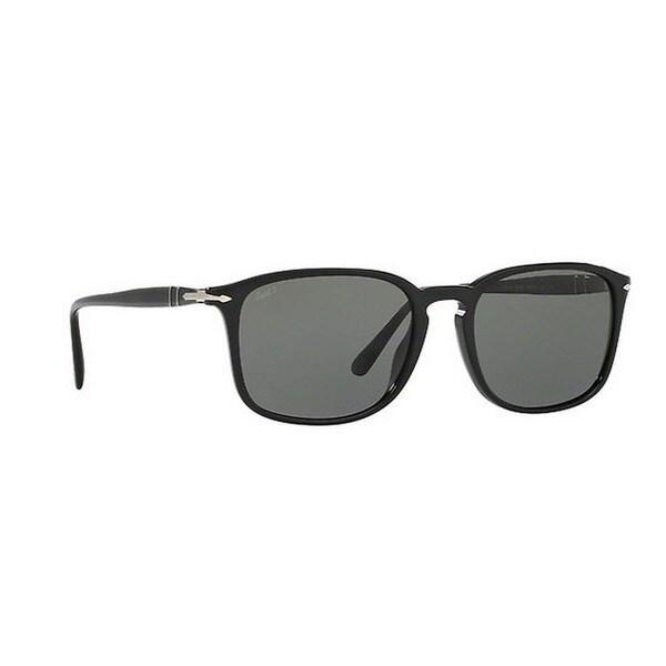 7295ba7c37 Shop Persol Men s PO3158S 95 58 56 Rectangle Plastic Black Green Sunglasses  - Free Shipping Today - Overstock.com - 14574425