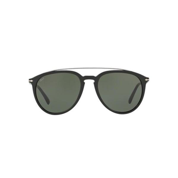 7b26472bf2 Persol Men  x27 s PO3159S 901458 55 Aviator Plastic Black Green Sunglasses