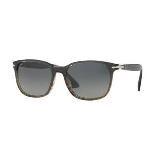 Persol Men's PO3164S 101271 56 Rectangle Plastic Grey Grey Sunglasses