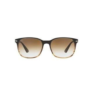 Persol Men's PO3164S 24/57 56 Rectangle Plastic Havana Brown Sunglasses