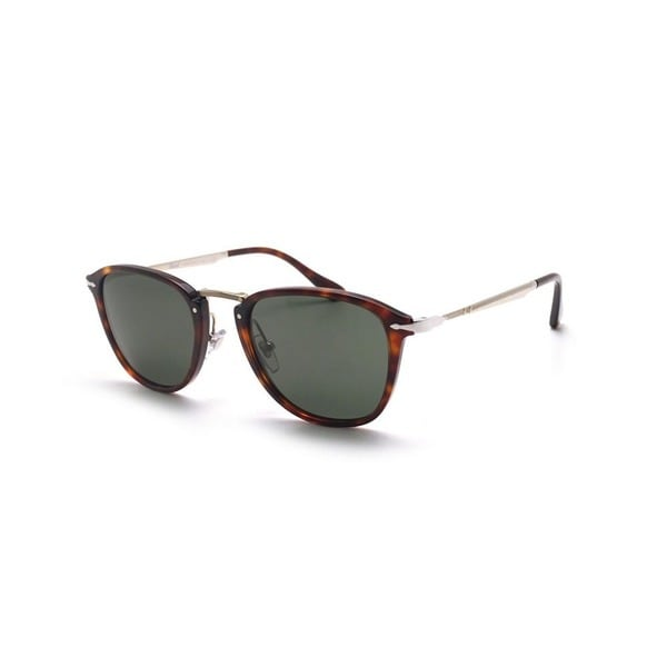 c9b8f32e51 Shop Persol Men s PO3165S 24 31 50 Square Metal Plastic Havana Green ...