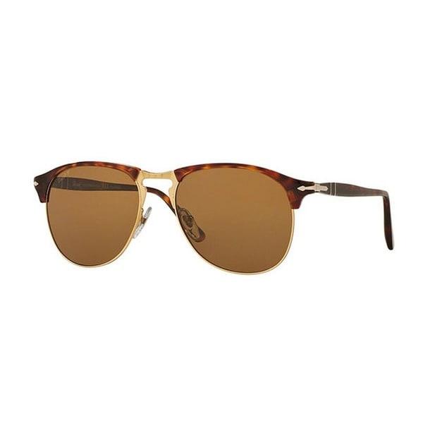 88c1f9e58d Persol Men  x27 s PO8649S 24 57 56 Aviator Plastic Havana Brown Sunglasses