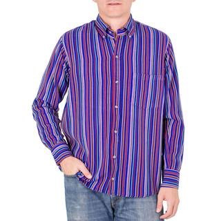 Men's Handmade Cotton 'Colorful Guatemala' Shirt (Guatemala)
