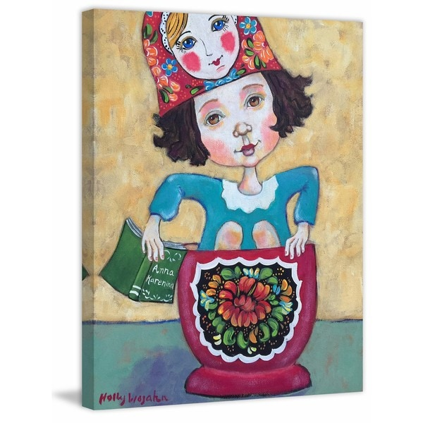 'Pretty Russian Doll' Painting Print on Wrapped Canvas