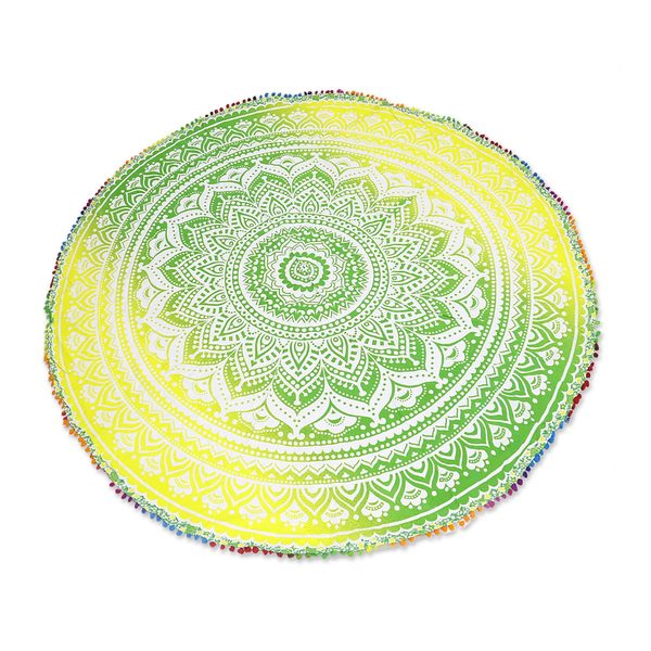 Handmade Cotton Beach Roundie, 'Sun Petals' (India)