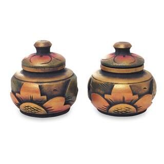 Pair of Decorative Wood Boxes, 'Guwang Treasure' (Indonesia)