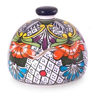 Ceramic Bonbonniere, 'Regal Flora' (Mexico)