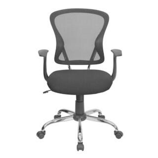 Black Mesh Mid back Tilt Swivel Office Desk Task Chair Chrome base, Arm