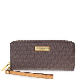 Michael Kors Jet Set Brown Continental Wristlet