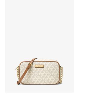 Michael Kors Jet Set Medium Vanilla Logo Crossbody