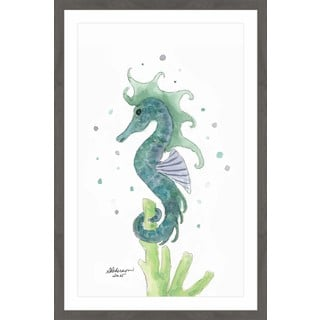 'Blue Sea Horse' Framed Painting Print