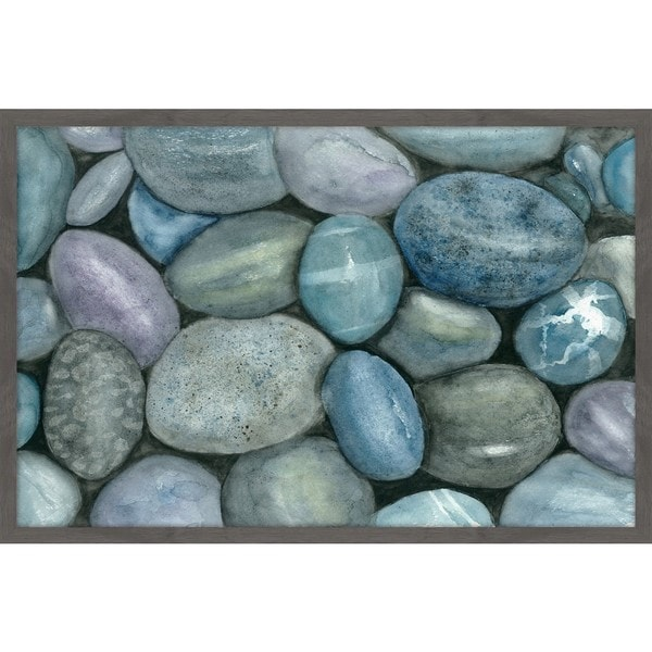 'River Rocks' Framed Painting Print