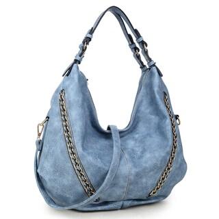 Dasein Soft Water Wash Vintage Dual Handle Hobo Bag