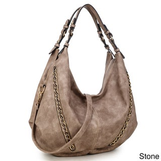 Dasein Vintage Soft Water Wash Dual Handle Hobo Handbag (4 options available)