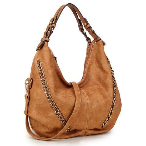 Dasein Vintage Soft Water Wash Dual Handle Hobo Handbag