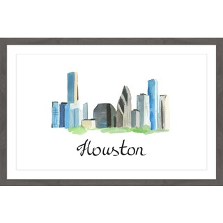 'Legendary Houston' Framed Painting Print