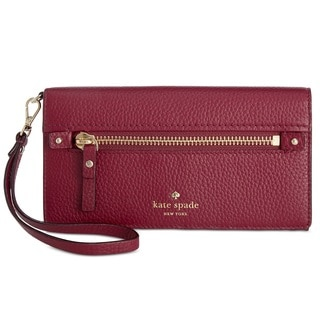 kate spade new york Cobble Hill Rae Merlot Wristlet