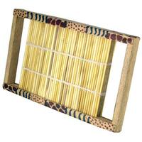 Handmade Rain Maker Nile Grass Animal Pattern (Kenya)