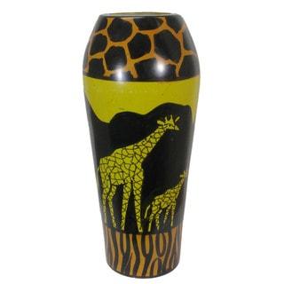 Handmade Vase Gold Giraffe (Kenya)