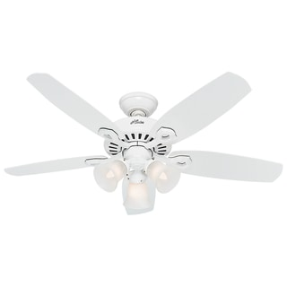 Hunter Fan Builder Small Room Snow White 42-inch Ceiling Fan With 5 White Blades and 3 60 W Lights