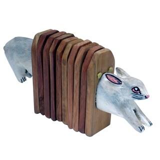 Handmade Accordion Shaker Cat (Kenya)