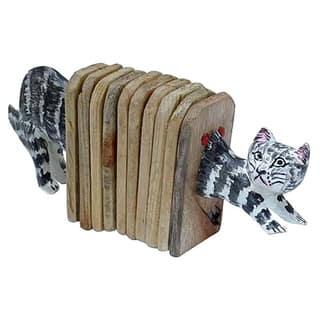 Handmade Accordion Shaker Cat (Kenya) (Option: Grey)|https://ak1.ostkcdn.com/images/products/14575065/P21122492.jpg?impolicy=medium