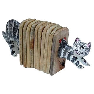 Handmade Accordion Shaker Cat (Kenya)