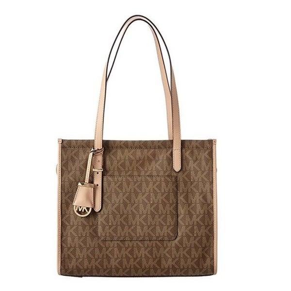 e989fff19bfc Shop Michael Kors Darien Signature Medium Mocha Tote Bag - On Sale ...