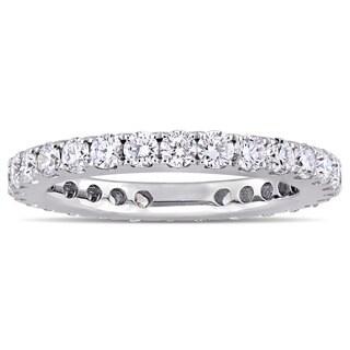 Miadora Signature Collection 14k White Gold 1ct TDW Diamond Full Eternity Band (G-H, SI1-SI2)