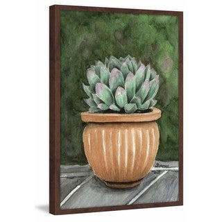 'Cactus on the Patio' Framed Painting Print