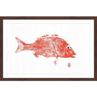 'Big Red Fish' Framed Painting Print