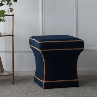 Jennifer Taylor Savannah Traditional Pedestal Ottoman