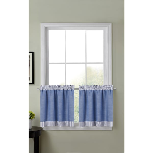 Superieur Amherst Color Block Kitchen Tier Curtains (30 Inch X 24 Inch)