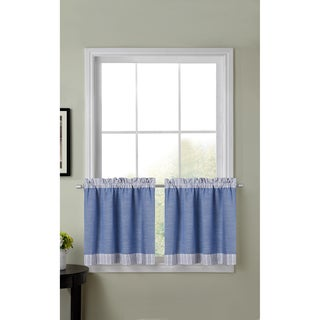 Amherst Color Block Kitchen Tier Curtains (30-inch x 24-inch)