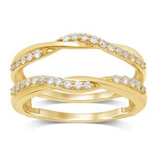 Unending Love 14k Yellow Gold 1/3ct TDW Diamond Wrap Guard Ring