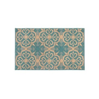 Jean Pierre Gianne Blue Lagoon/Linen Loop Accent Rug - (24 x 40 in.)