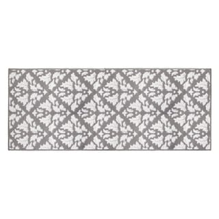 Jean Pierre Mira Grey/Soft White Loop Accent Rug - (24 x 60 in.)