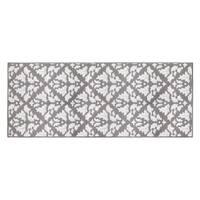Jean Pierre Mira Grey/Soft White Loop Accent Rug - (24 x 60 in.)