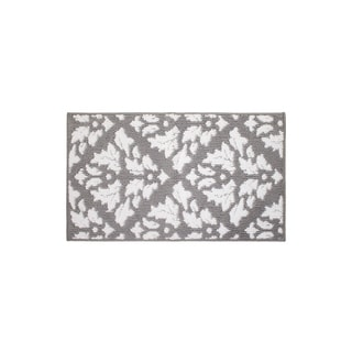 Jean Pierre Mira Grey/Soft White Loop Accent Rug - (20 x 34 in.)