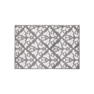 Jean Pierre Mira Grey/Soft White Loop Accent Rug -