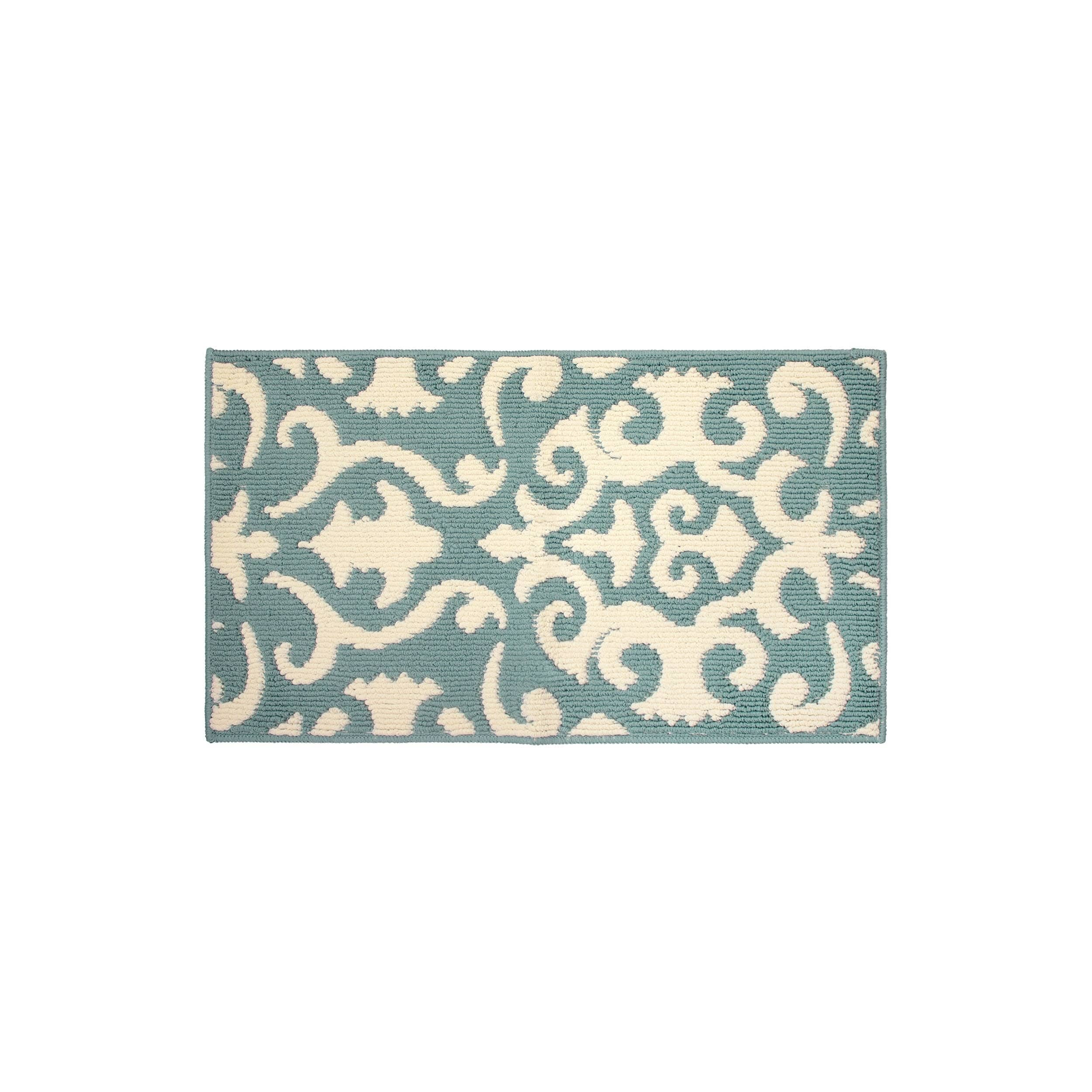 Jean Pierre Phelomena Mineral Blue/Ivory Loop Accent Rug,...
