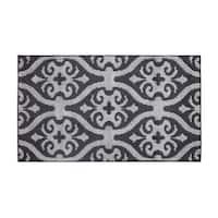 Jean Pierre Nina Flat Grey/Grey Loop Accent Rug - (28 x 48 in.)