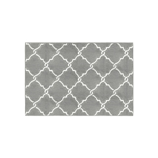 Jean Pierre Yohan Grey/Soft White Loop Accent Rug - (28 x 48 in.)