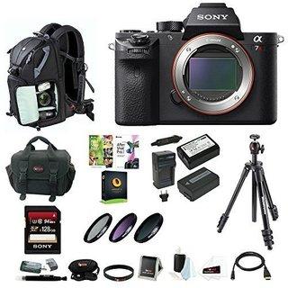 Sony Alpha a7RII Mirrorless Digital Camera (Body Only) w/ 128GB SD Card & Photo/SLR Sling Backpack Bundle