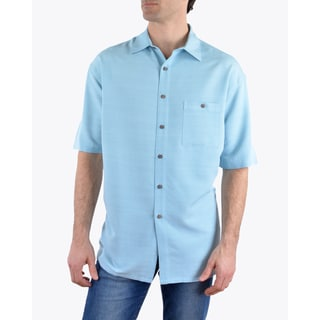 Campia Men's Textured Solid Shirt